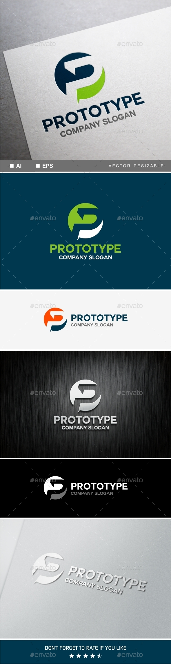 GraphicRiver P Letter Logo Template 9941729