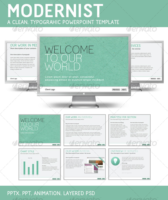 GraphicRiver Modernist PowerPoint Template 126101