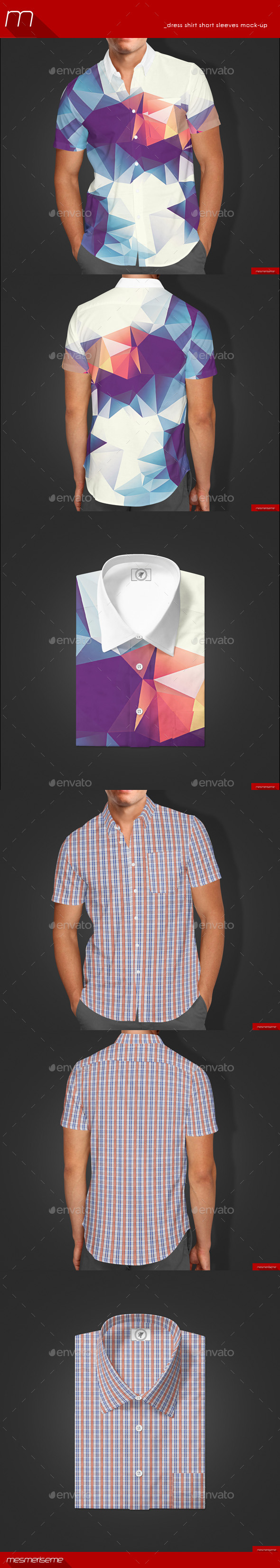 GraphicRiver Short Sleeves Dress Shirt Mock-up 9942183