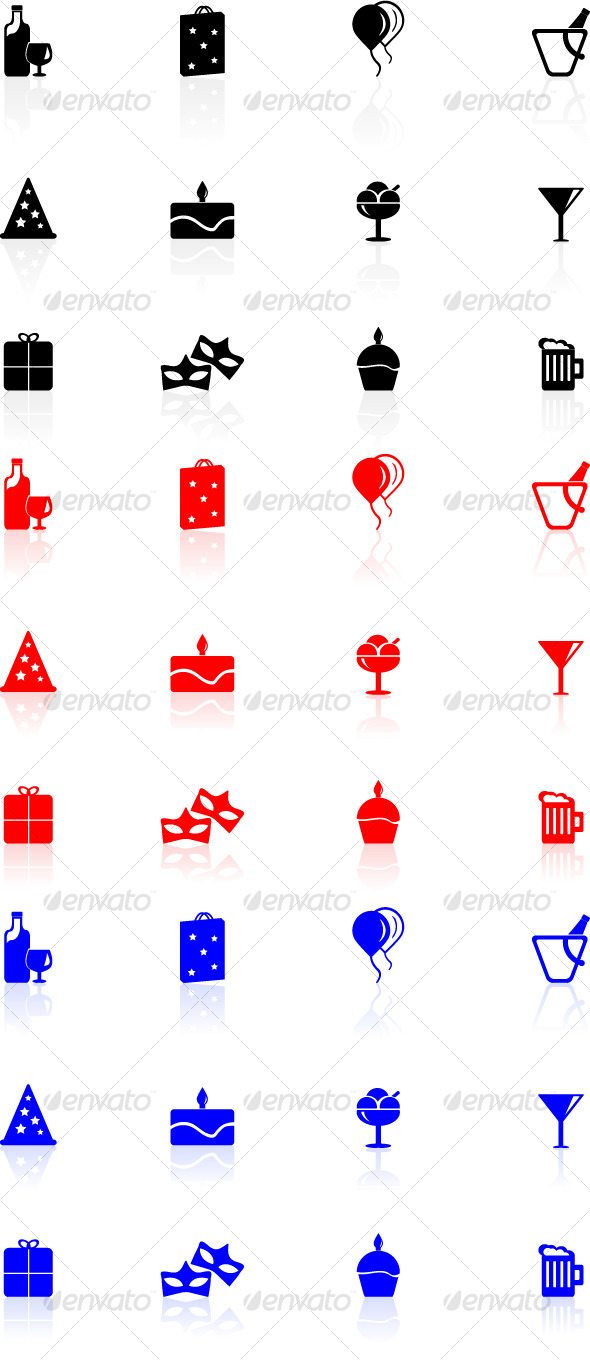 GraphicRiver Birthday Icons Set 126112