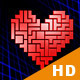Tetris Heart Backgrounds - Pack Of 4 - VideoHive Item for Sale
