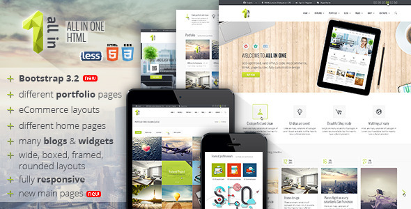 All In One All Inclusive HTML5 Template