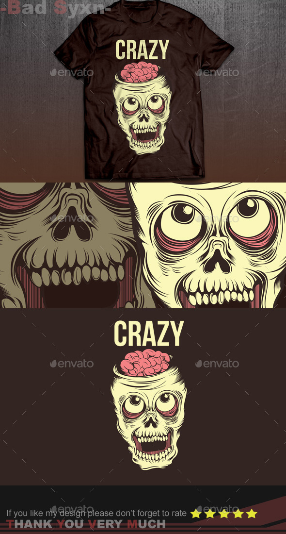 GraphicRiver Crazy Skull 9942850