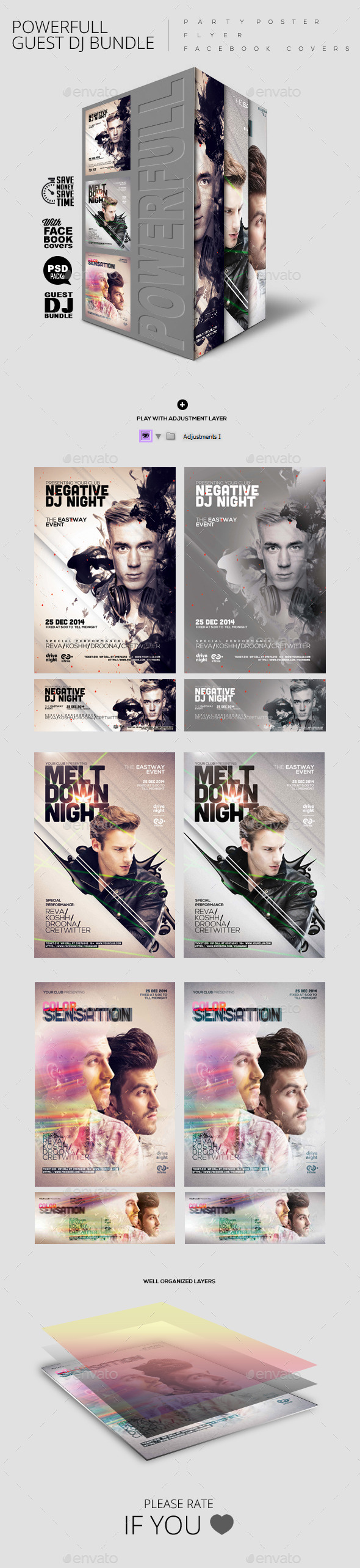 GraphicRiver Bundle of Guest Dj Party Poster Flyer Facebook C 9942861