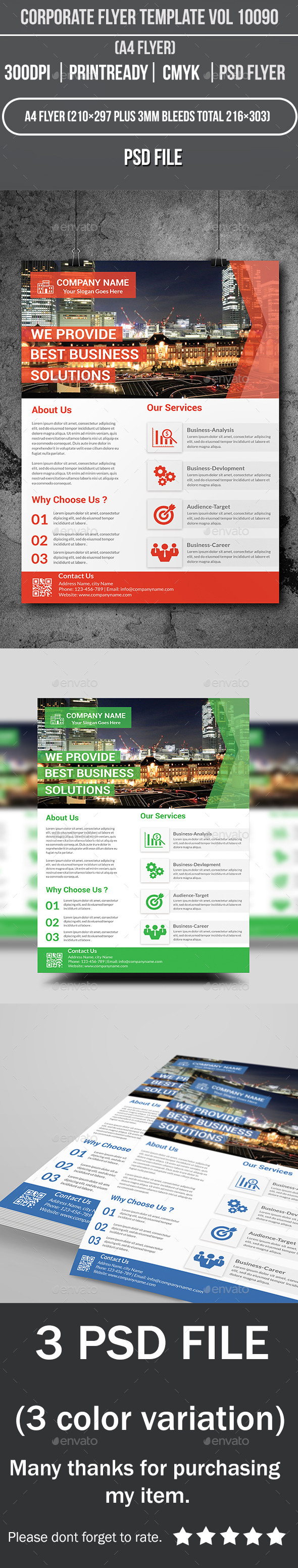 GraphicRiver Corporate Flyer Template Vol 10090 9941323