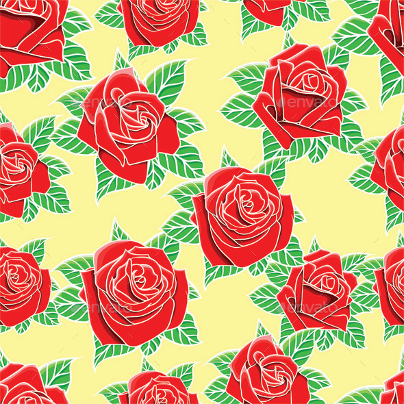 GraphicRiver Roses Pattern 9612650