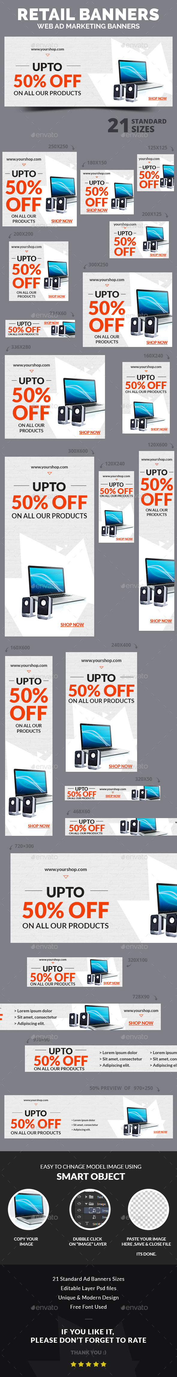 GraphicRiver Retail Ad Banners 9943113
