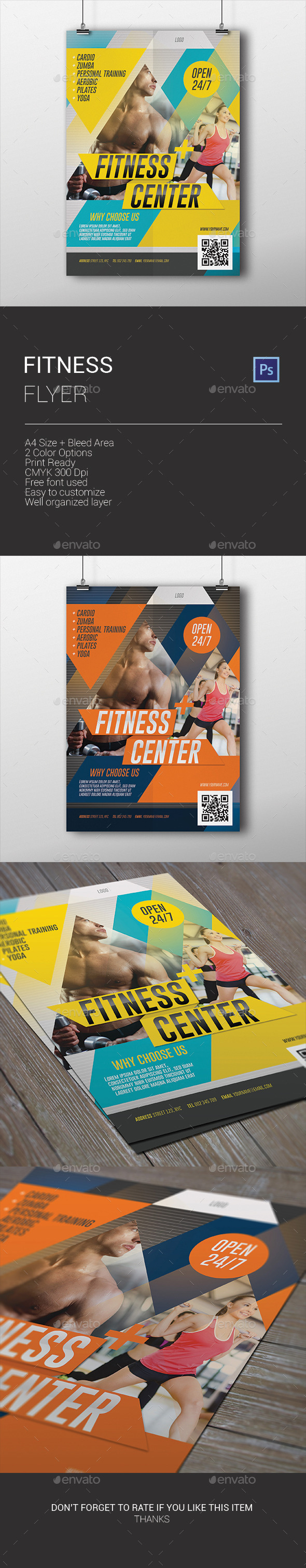 GraphicRiver Fitness Flyer 9943124
