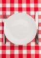 knife and fork at plate on napkin - PhotoDune Item for Sale