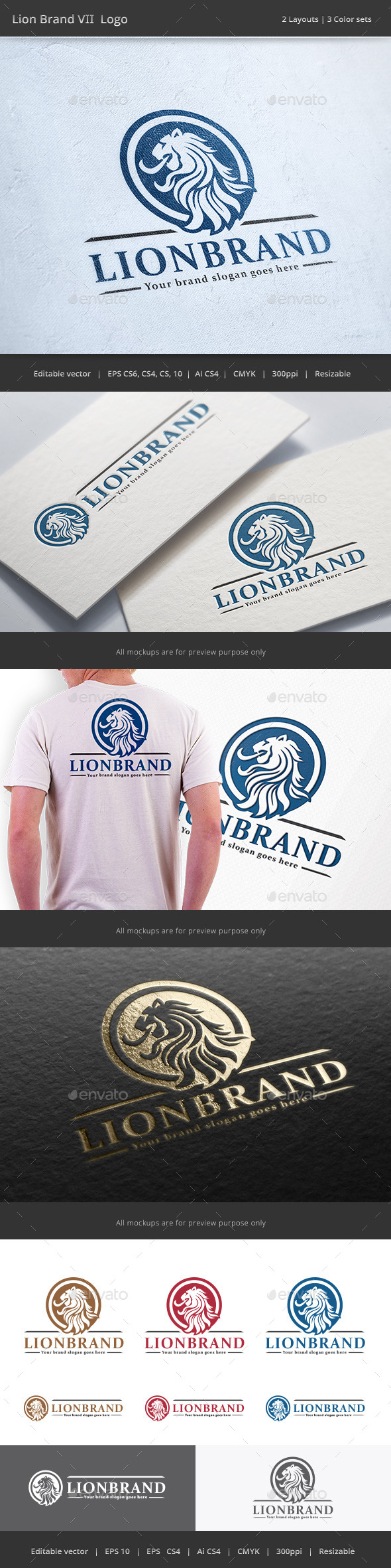 GraphicRiver Lion Brand V2 Logo 9944305