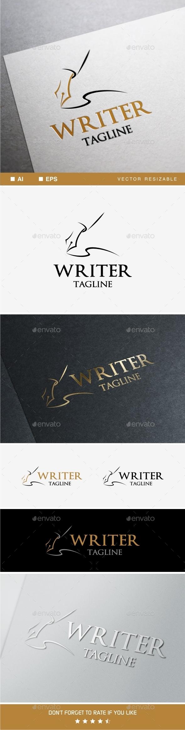 GraphicRiver Writer Logo 9941732