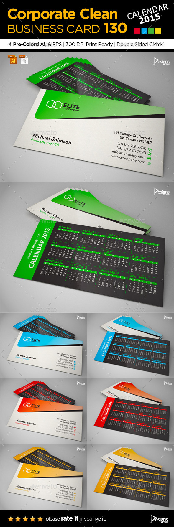GraphicRiver Business Card 2015 9944550