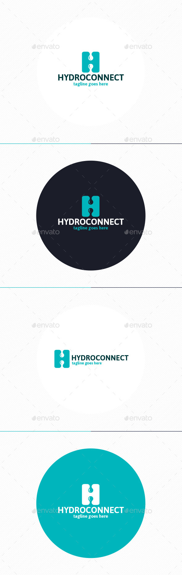 GraphicRiver Hydro Connect Logo Letter H 9944712