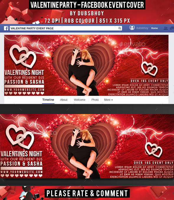 Valentine Facebook Cover