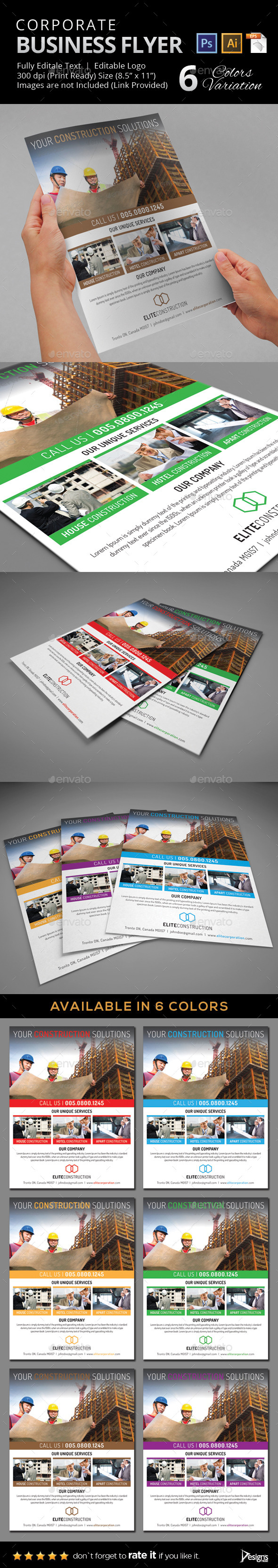 GraphicRiver Construction Flyer 24 9945085