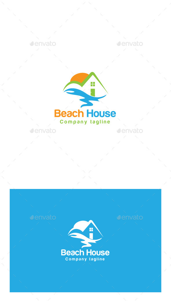 GraphicRiver Beach House Logo 9945381