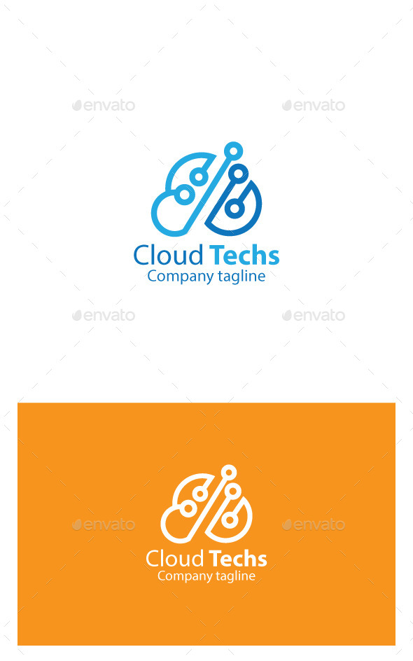 GraphicRiver Cloud Techs Logo 9945409