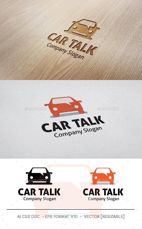 GraphicRiver Car Talk Logo 9945431