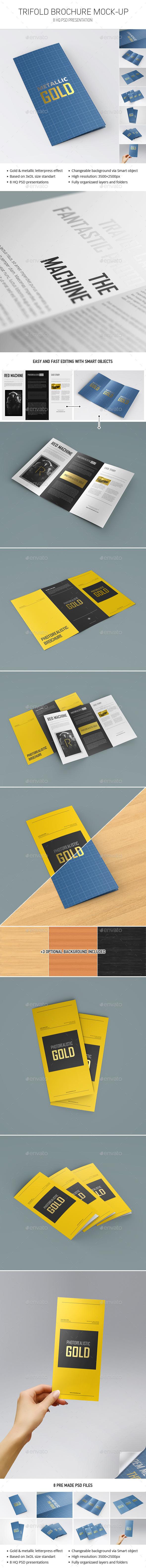 GraphicRiver Trifold Brochure Mockup 9945646
