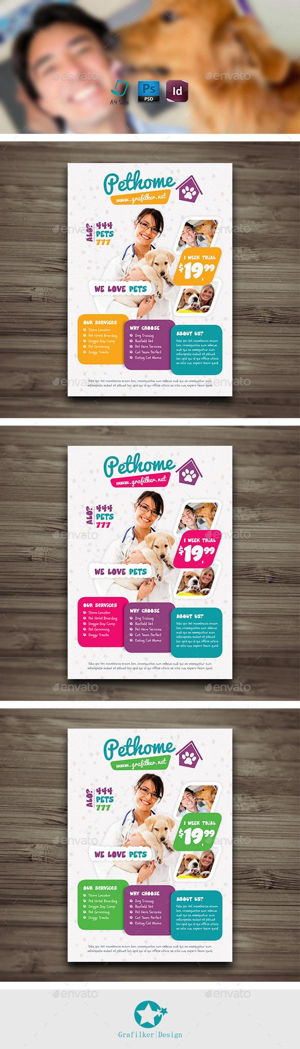 GraphicRiver Pet Shop Flyer Templates 9945780