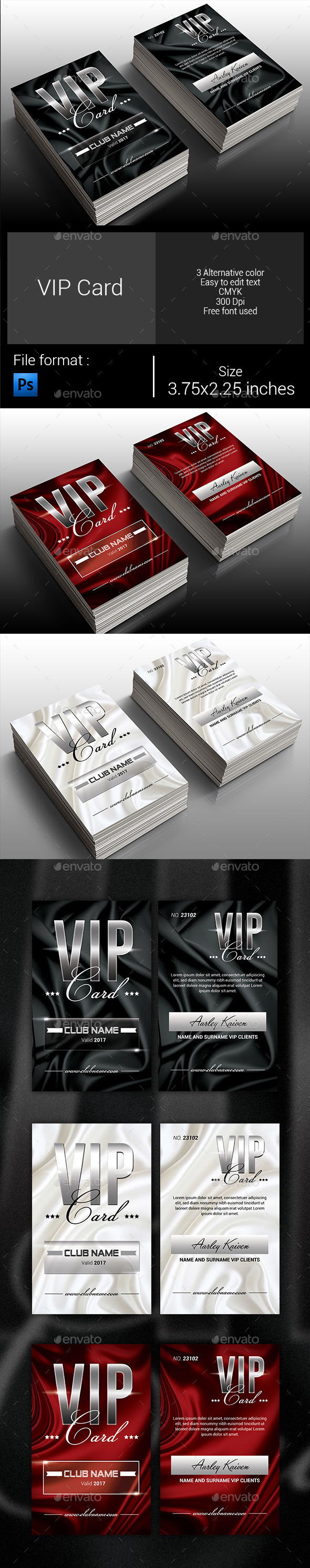 GraphicRiver Elegant Vip Card 9945806