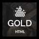 Gold | Creative HTML5 Template - ThemeForest Item for Sale