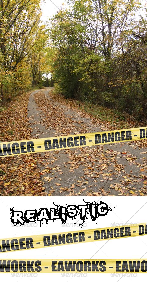 GraphicRiver Danger Yellow Ribbon 126177