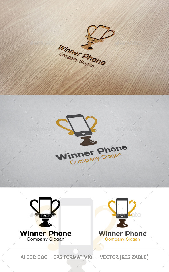 GraphicRiver Winner Phone Logo 9946112