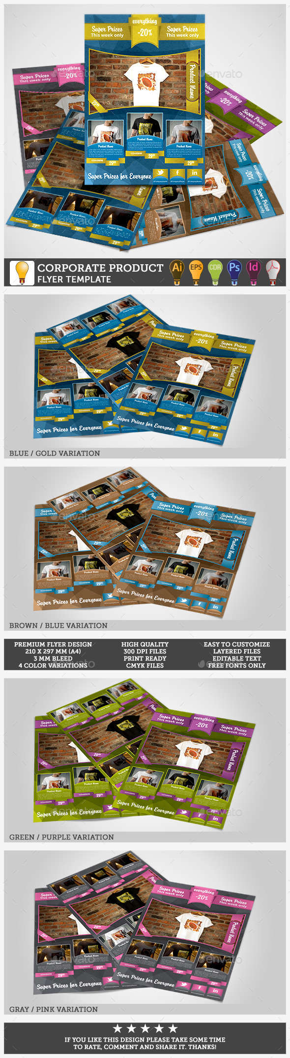 Corporate Product Promotion Flyer Template - Commerce Flyers