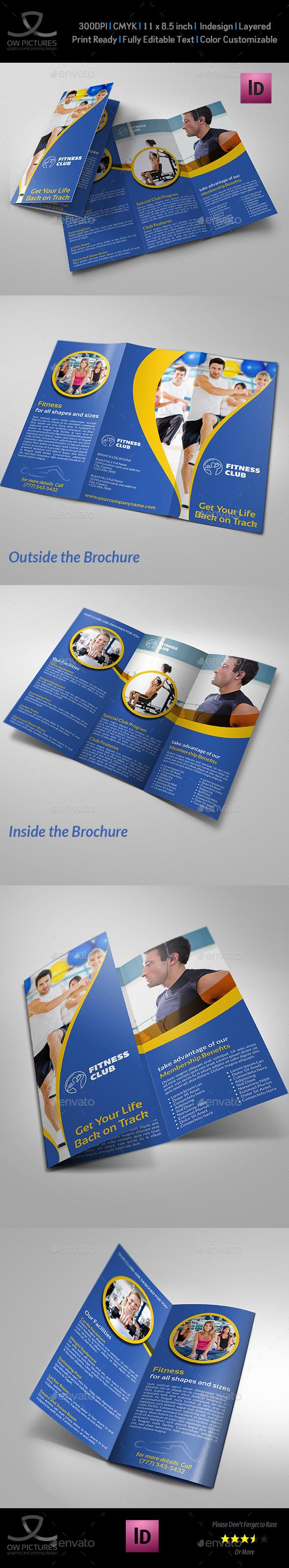 GraphicRiver Fitness GYM Tri-Fold Template Vol.3 9946267