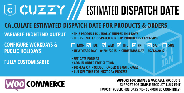 CodeCanyon WooCommerce Estimated Dispatch Date 9924731