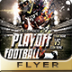 FOOTBALL PLAYEROFF Flyer Design - GraphicRiver Item for Sale