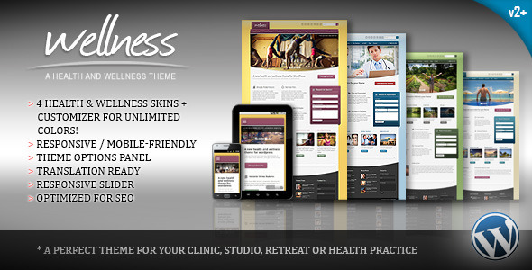 Wellness A Health & Wellness WordPress Theme