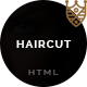 Haircut – barbershop, spa, beauty, manicure html template