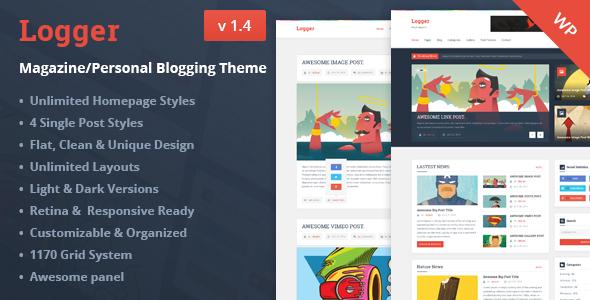 Logger Magazine Personal Blogging Theme