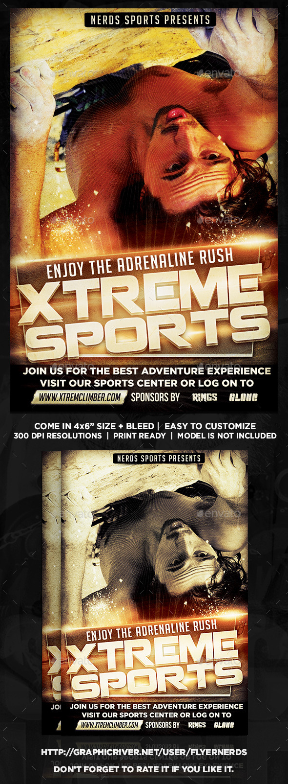 GraphicRiver Extreme Climbing Sports Flyer 9947592