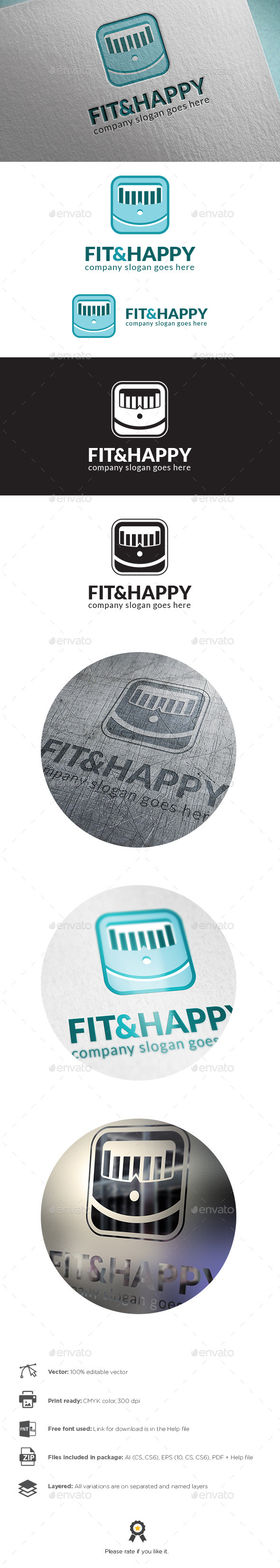 GraphicRiver Fit And Happy Logo 9947810