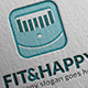 Fit And Happy Logo - GraphicRiver Item for Sale