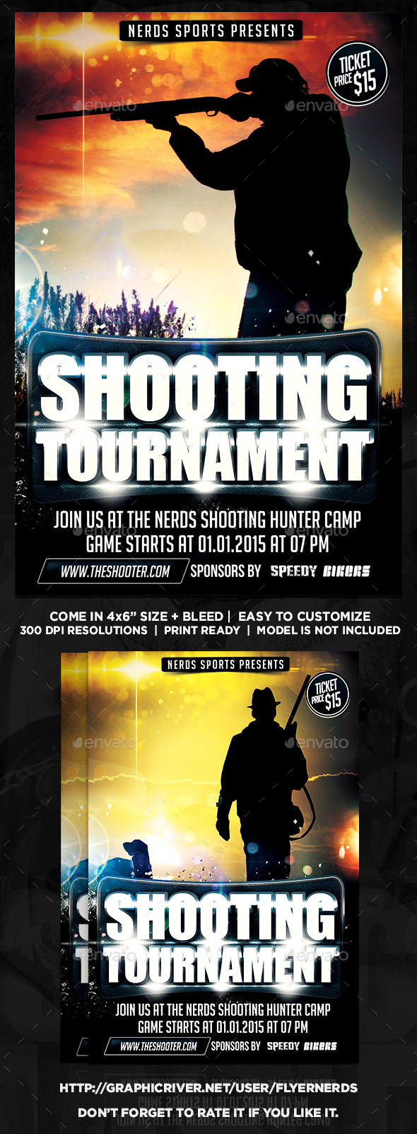 Hunting Tournament Sports Flyer