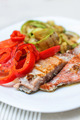 Grilled Salmon And Mixed Vegetable - PhotoDune Item for Sale