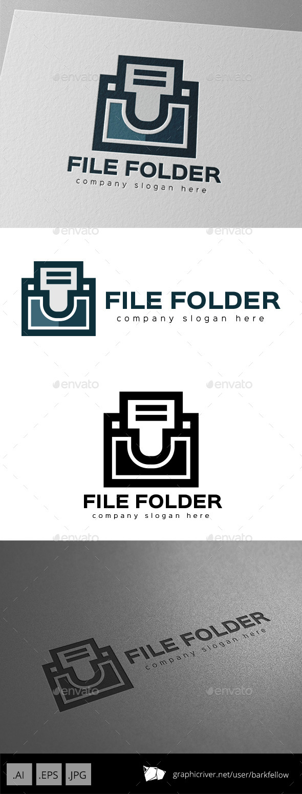 File Document Folder Logo