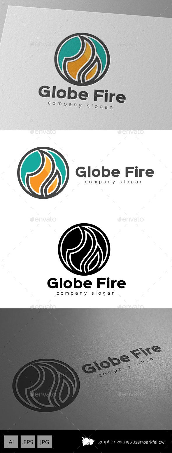 GraphicRiver Fire Ball Logo Design 9948140