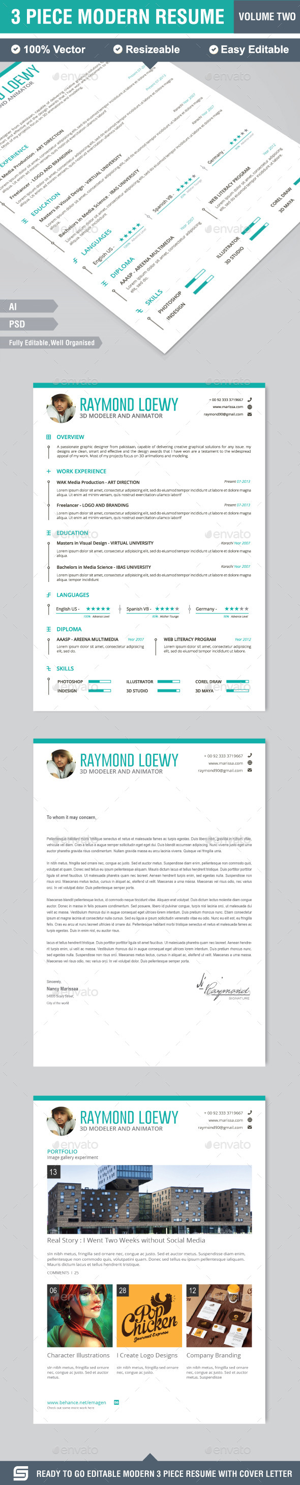 GraphicRiver Resume CV 9948161