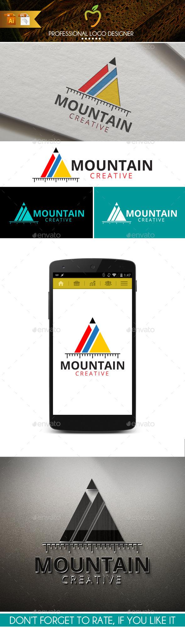 GraphicRiver Mountain Creative Logo 9948255