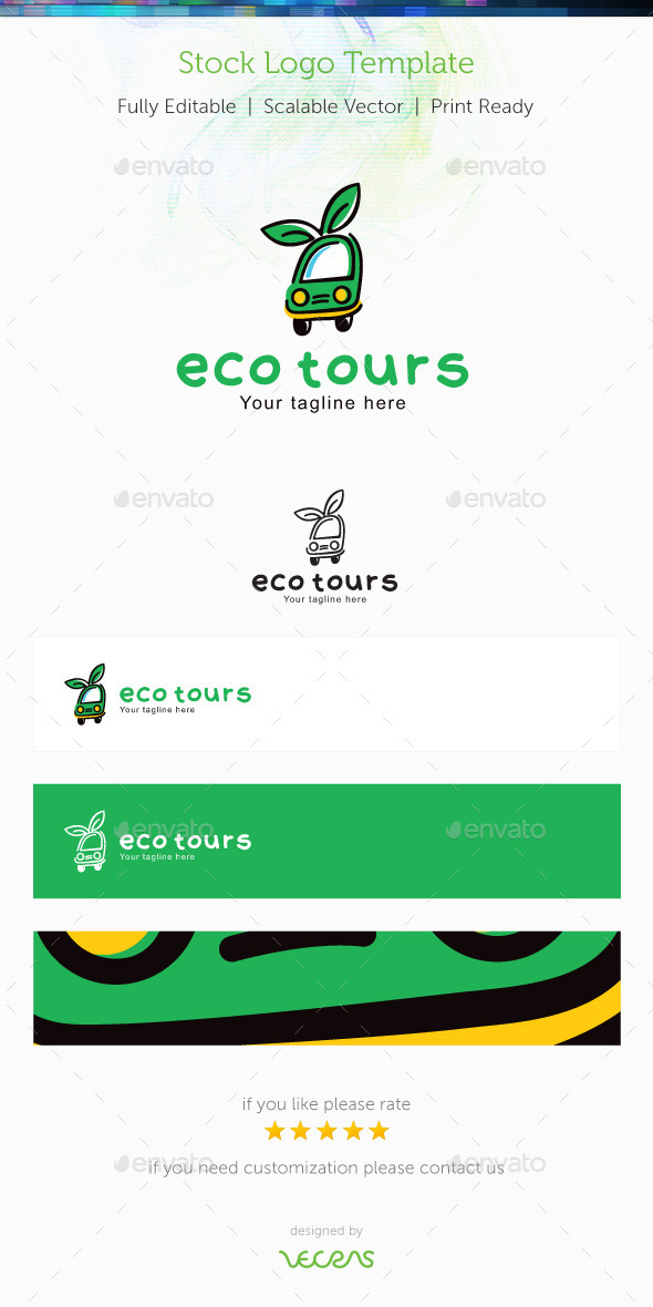 GraphicRiver Eco Tours Stock Logo Template 9948566