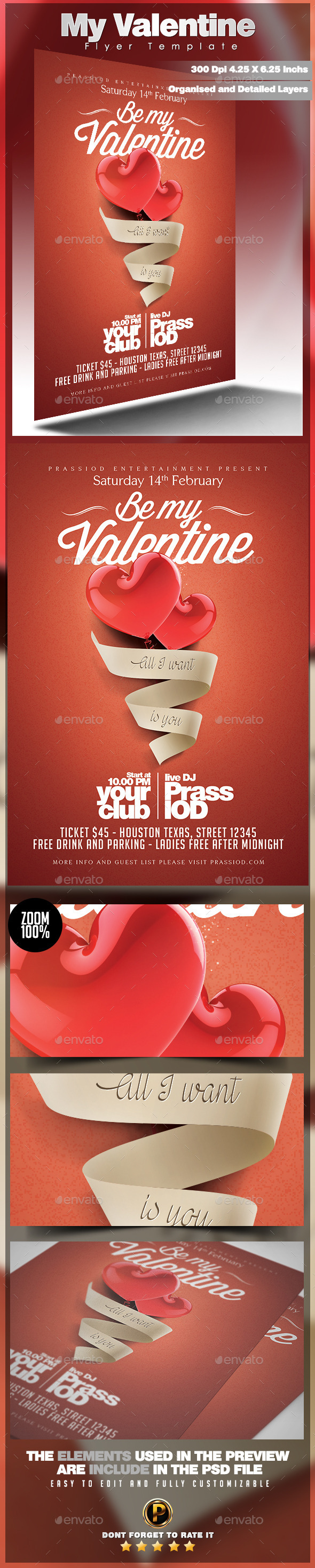 GraphicRiver My Valentine Flyer Template 9942623