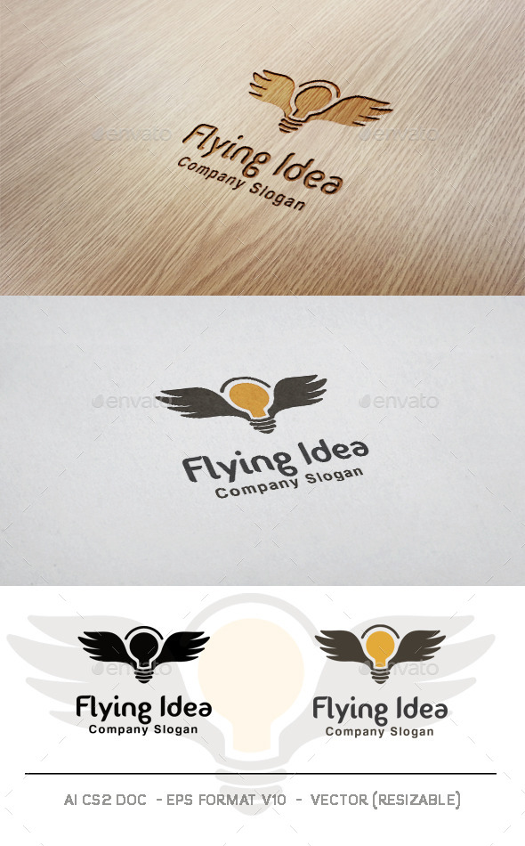 GraphicRiver Flying Idea Logo 9948745