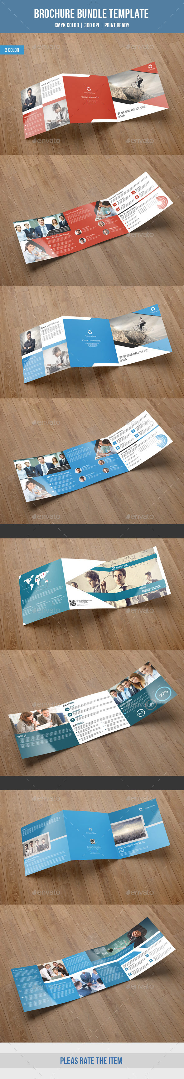 GraphicRiver Square Trifold Brochure Bundle-V02 9949118