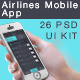 Airlines Mobile App UI - GraphicRiver Item for Sale