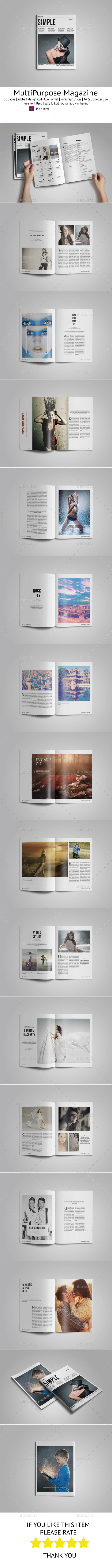 GraphicRiver Simple Magazine Template 9943047
